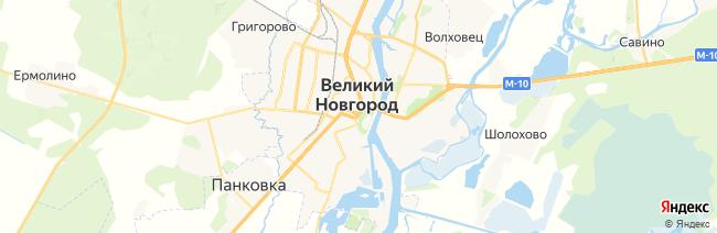 Новгород Великий на карте