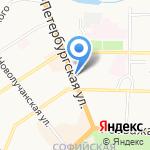 Счастливый взгляд на карте Великого Новгорода