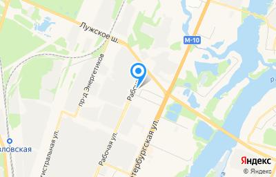 Местоположение на карте пункта техосмотра по адресу г Великий Новгород, ул Рабочая, д 42