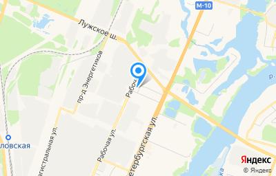 Местоположение на карте пункта техосмотра по адресу г Великий Новгород, ул Рабочая, д 42А