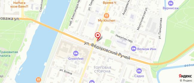 Карта расположения пункта доставки Билайн в городе Великий Новгород