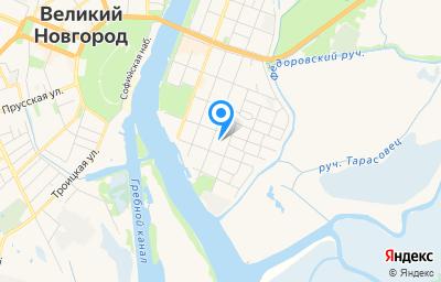 Местоположение на карте пункта техосмотра по адресу г Великий Новгород, ул Никольская, д 30
