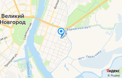 Местоположение на карте пункта техосмотра по адресу г Великий Новгород, ул Рогатица, д 34