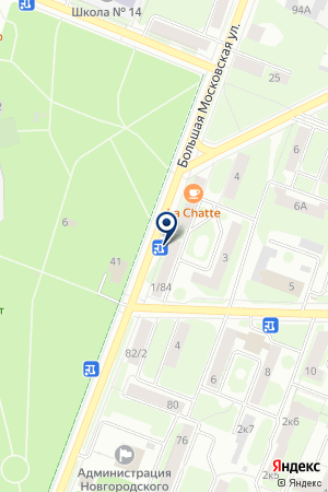 Канцеляр на карте Великого Новгорода