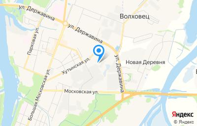 Местоположение на карте пункта техосмотра по адресу г Великий Новгород, ул Хутынская, д 42