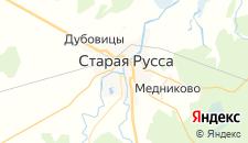 Гостиницы города Старая Русса на карте
