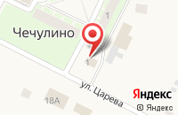 Схема проезда до компании Магазин №72 в Чечулино