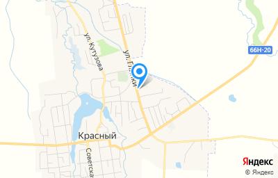 Местоположение на карте пункта техосмотра по адресу Смоленская обл, пгт Красный, ул Глинки, д 3