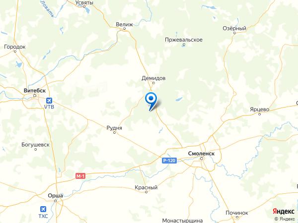 урочище Костылево на карте