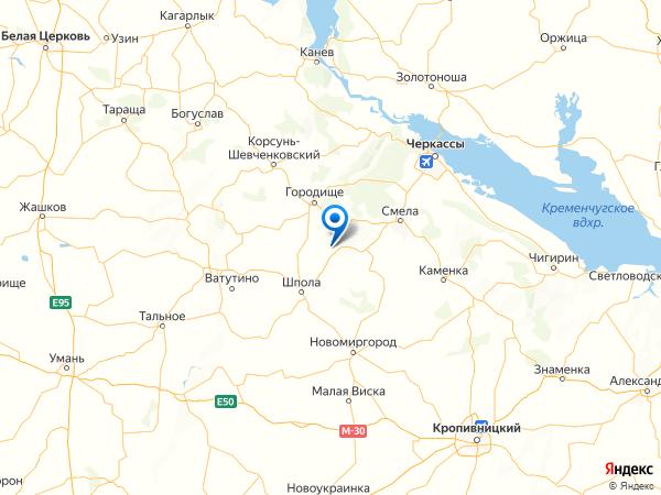 село Чубовка на карте
