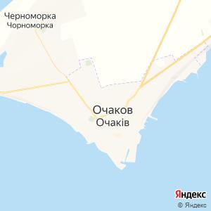 Карта города Очакова