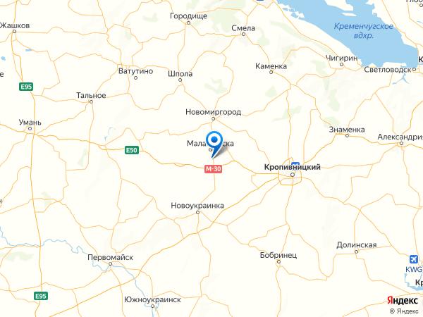 поселок Вишневое на карте