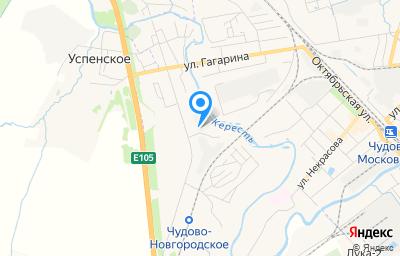 Местоположение на карте пункта техосмотра по адресу Новгородская обл, г Чудово, пер Базовский, д 1, пом 2Н