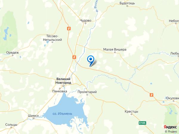 деревня Посад на карте