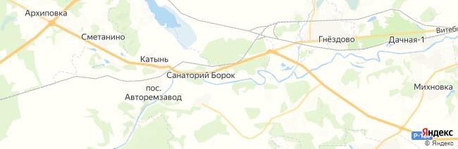 Катынь на карте