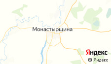 Гостиницы города Монастырщина на карте