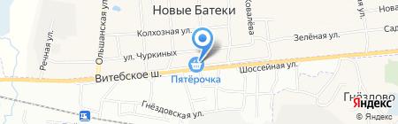 Магазин автозапчастей на ул. Школьная на карте Глущенок