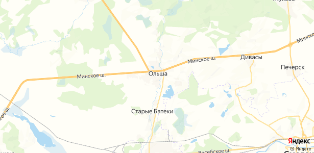 Ольша на карте