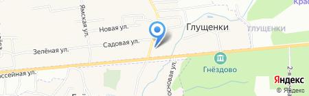 Магазин продуктов на карте Глущенок
