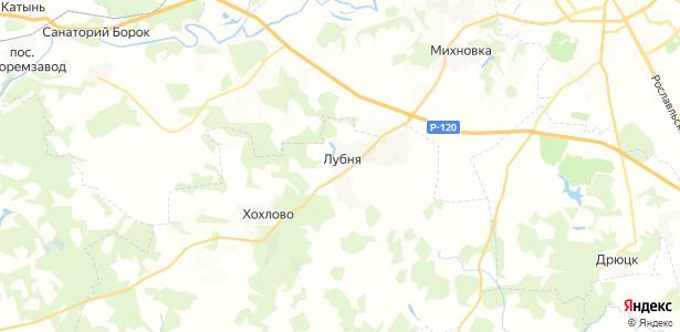 Лубня на карте