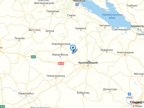 село Веселовка на карте