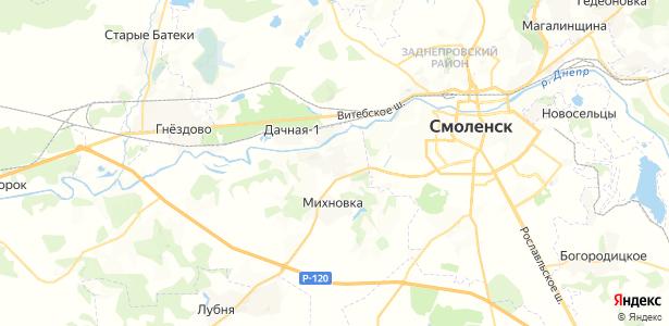 Ясенная на карте
