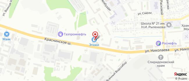Карта расположения пункта доставки Смоленск Краснинское в городе Смоленск