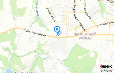 Местоположение на карте пункта техосмотра по адресу г Смоленск, ш Краснинское, д 4