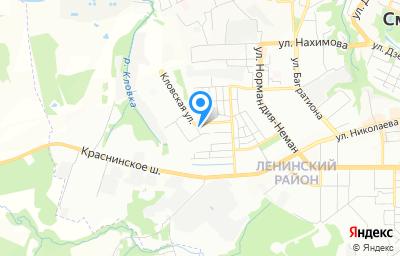 Местоположение на карте пункта техосмотра по адресу г Смоленск, ул Гарабурды, д 13