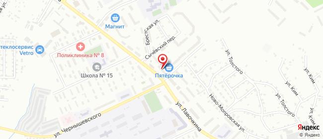 Карта расположения пункта доставки Смоленск Лавочкина в городе Смоленск