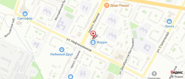 Карта расположения пункта доставки СИТИЛИНК в городе Кириши