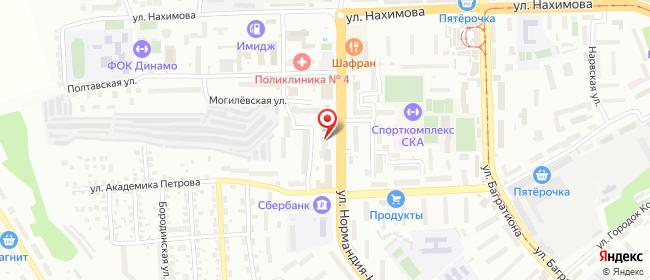 Карта расположения пункта доставки Смоленск Нормандия-Неман в городе Смоленск
