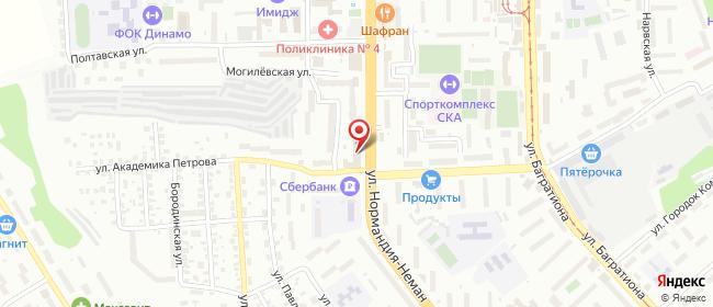 Карта расположения пункта доставки Ростелеком в городе Смоленск