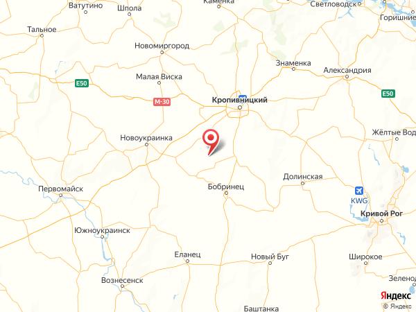 село Нечаевка на карте