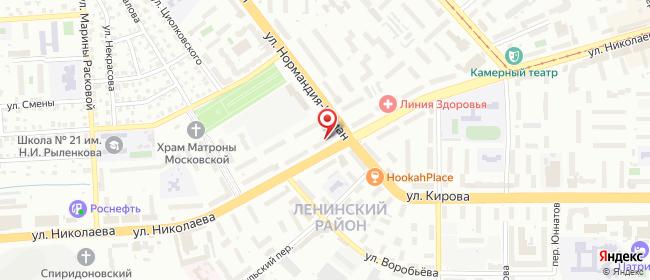 Карта расположения пункта доставки Смоленск Николаева в городе Смоленск