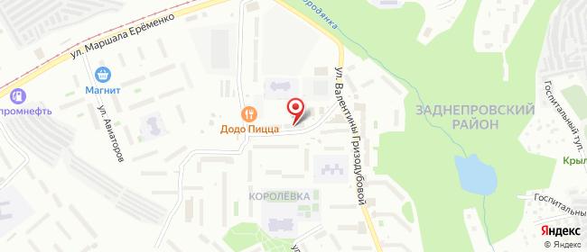 Карта расположения пункта доставки мкр. Королевка в городе Смоленск
