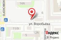 Схема проезда до компании Ромашка в Астрахани