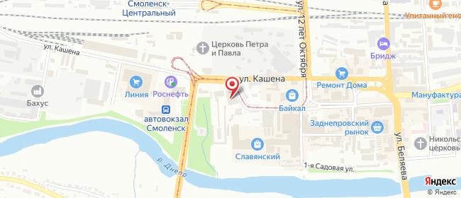 Карта расположения пункта доставки 220 вольт в городе Смоленск