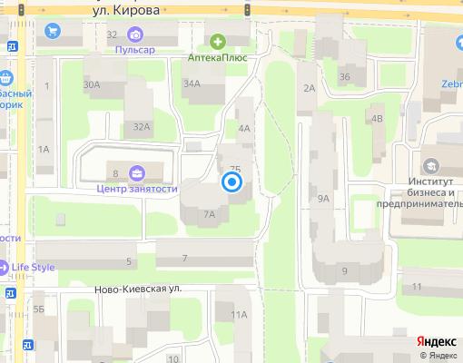 Управляющая компания «ТСЖ+Сервис» на карте Смоленска