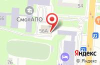 Схема проезда до компании Айенгара в Смоленске