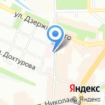 Госпиталь МСЧ МВД России по Смоленской области на карте Смоленска