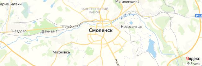 Смоленск на карте