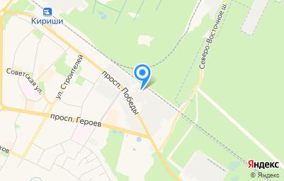 Местоположение на карте пункта техосмотра по адресу Ленинградская обл, г Кириши, пр-кт Победы, д 28А