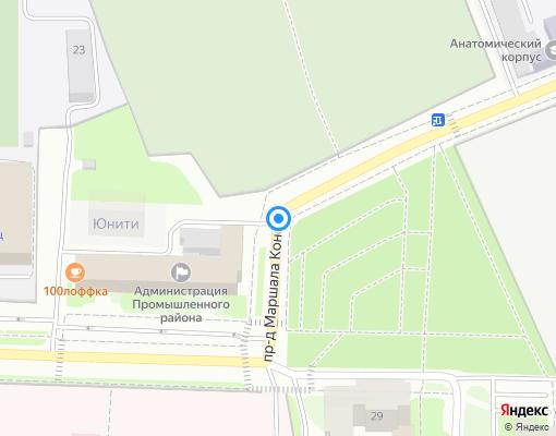 Товарищество собственников жилья «Пр-д М.Конева,29» на карте Смоленска
