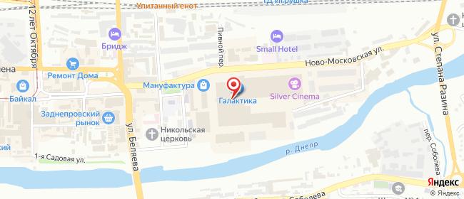 Карта расположения пункта доставки Билайн в городе Смоленск