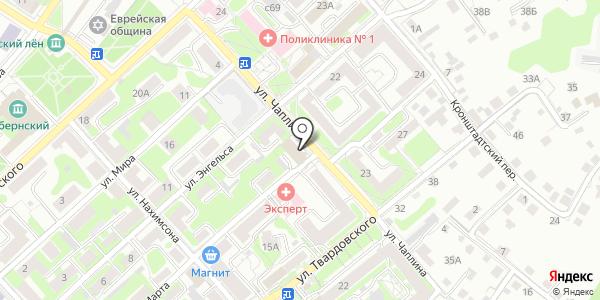 Департамент государственного строительного и технического надзора Смоленской области. Схема проезда в Смоленске
