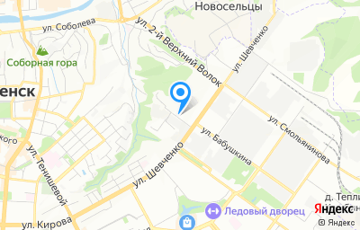Местоположение на карте пункта техосмотра по адресу г Смоленск, ул Шевченко, д 77А