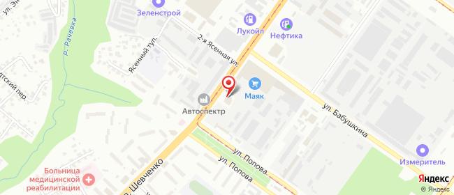 Карта расположения пункта доставки Смоленск Шевченко в городе Смоленск