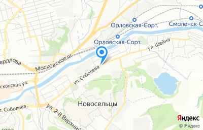 Местоположение на карте пункта техосмотра по адресу г Смоленск, ул Соболева, д 100
