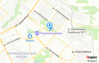 Местоположение на карте пункта техосмотра по адресу г Смоленск, ул Попова, д 13Б